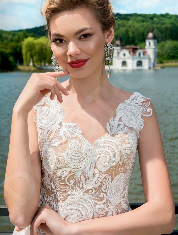 Modern A-line silhouette Pina wedding dress by DevotionDresses - 004