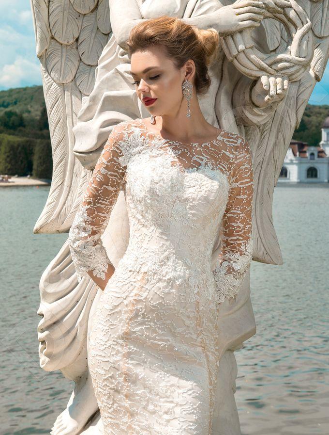 Elegant Trumpet Mermaid silhouette Dafnia wedding dress by DevotionDresses - 002
