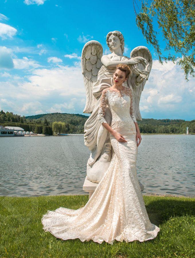Elegant Trumpet Mermaid silhouette Dafnia wedding dress by DevotionDresses - 004