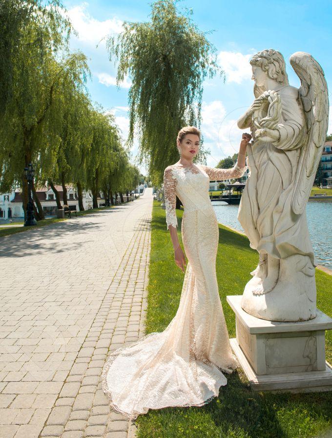 Elegant Trumpet Mermaid silhouette Dafnia wedding dress by DevotionDresses - 005