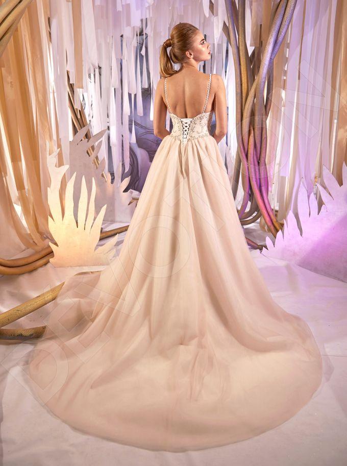 Classic A-line silhouette Lorella wedding dress by DevotionDresses - 003