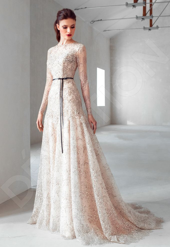 Luxury A-line silhouette Nilly wedding dress by DevotionDresses - 004