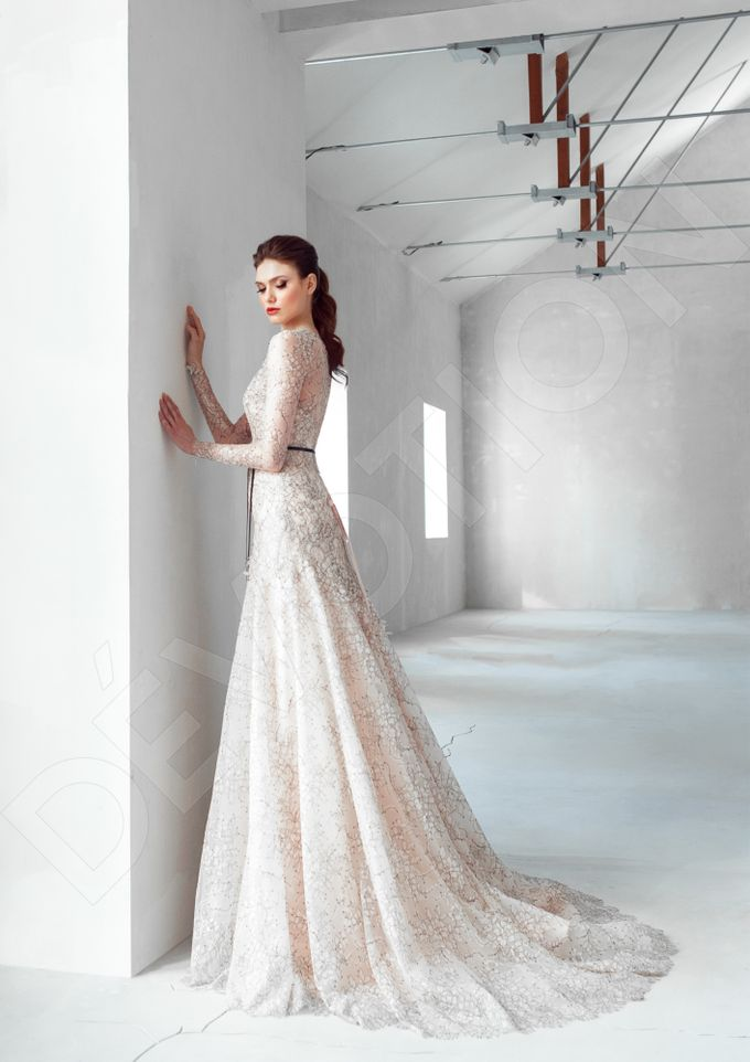Luxury A-line silhouette Nilly wedding dress by DevotionDresses - 002