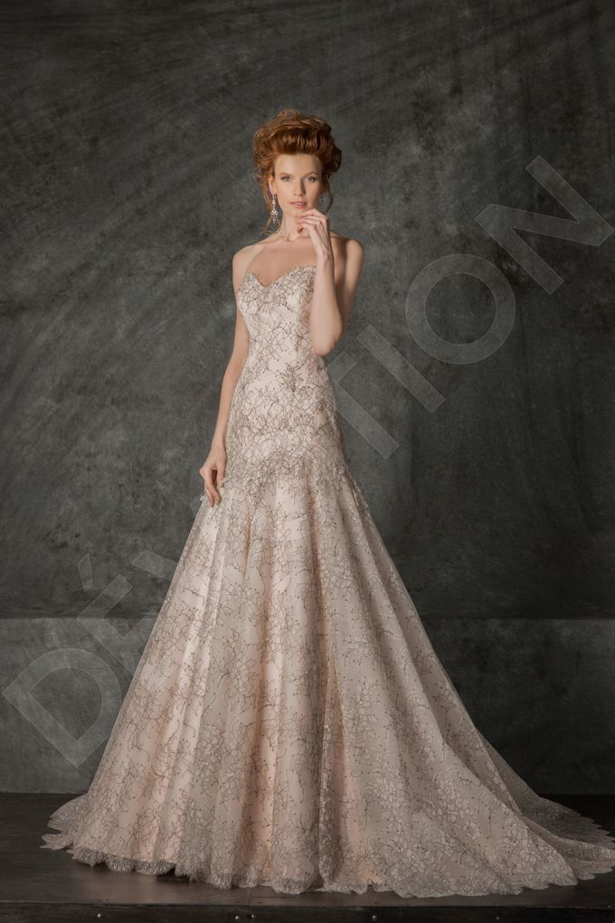 Luxury A-line silhouette Nilly wedding dress by DevotionDresses - 005