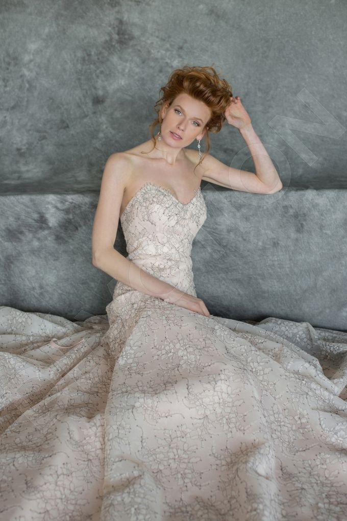 Luxury A-line silhouette Nilly wedding dress by DevotionDresses - 006