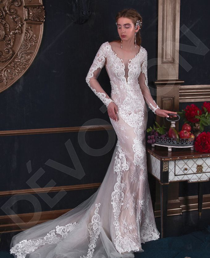 Luxury Trumpet Mermaid silhouette Verania wedding dress by DevotionDresses - 004
