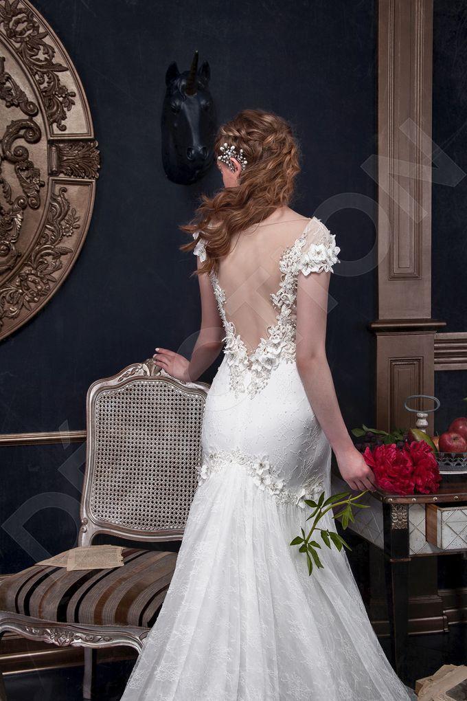Elegant Trumpet Mermaid silhouette Milta wedding dress by DevotionDresses - 002