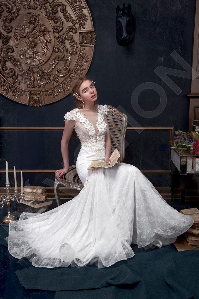 Elegant Trumpet Mermaid silhouette Milta wedding dress by DevotionDresses - 003
