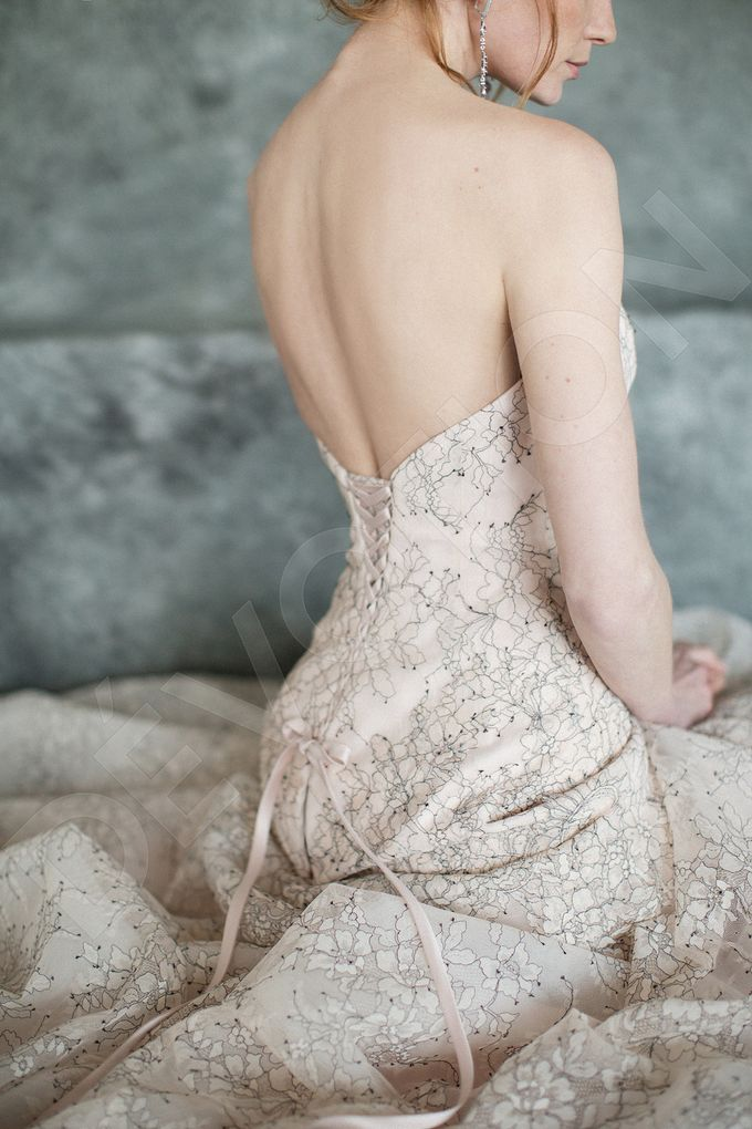 Luxury A-line silhouette Nilly wedding dress by DevotionDresses - 003