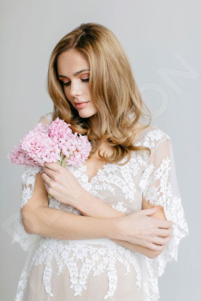 Modern A-line silhouette Sloan wedding dress by DevotionDresses - 003