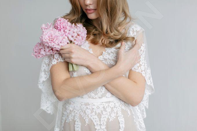 Modern A-line silhouette Sloan wedding dress by DevotionDresses - 006