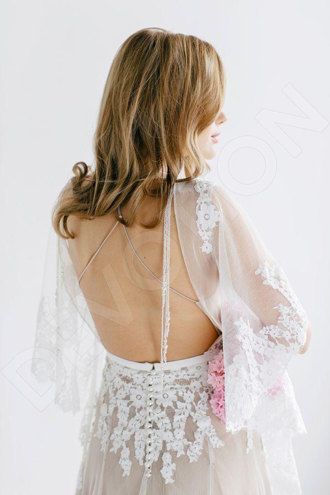 Modern A-line silhouette Sloan wedding dress by DevotionDresses - 002