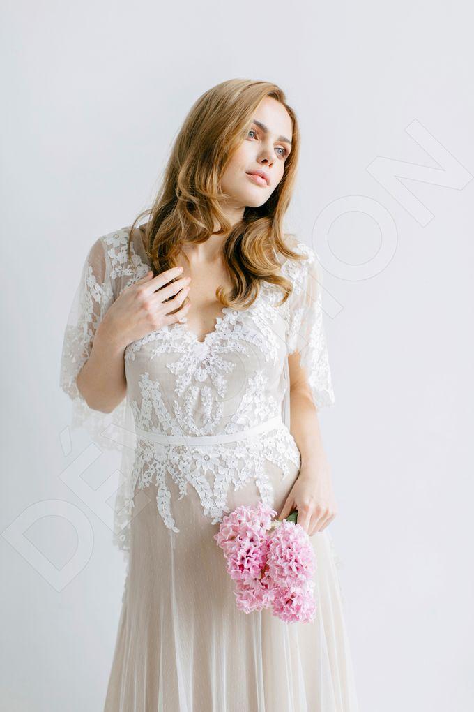 Modern A-line silhouette Sloan wedding dress by DevotionDresses - 009