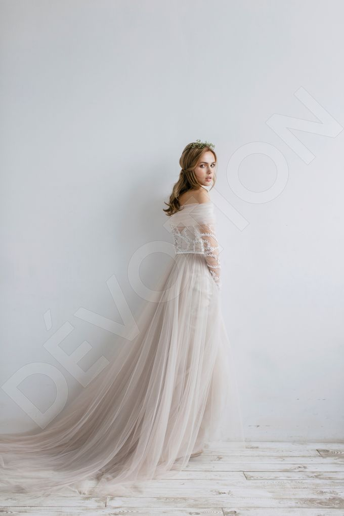 Elegant A-line silhouette Libera wedding dress by DevotionDresses - 005