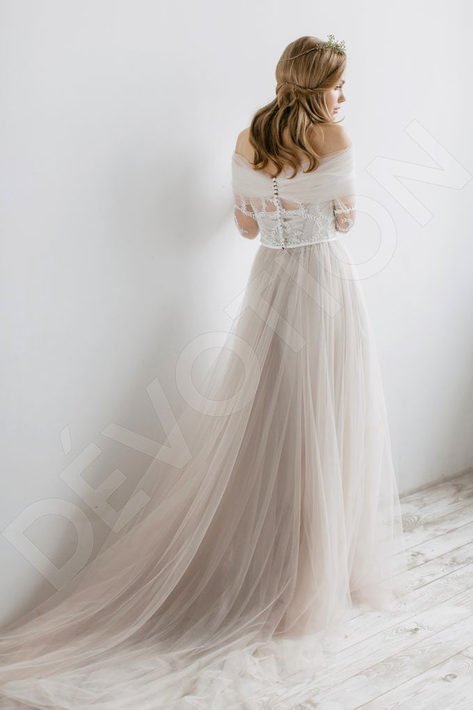 Elegant A-line silhouette Libera wedding dress by DevotionDresses - 007