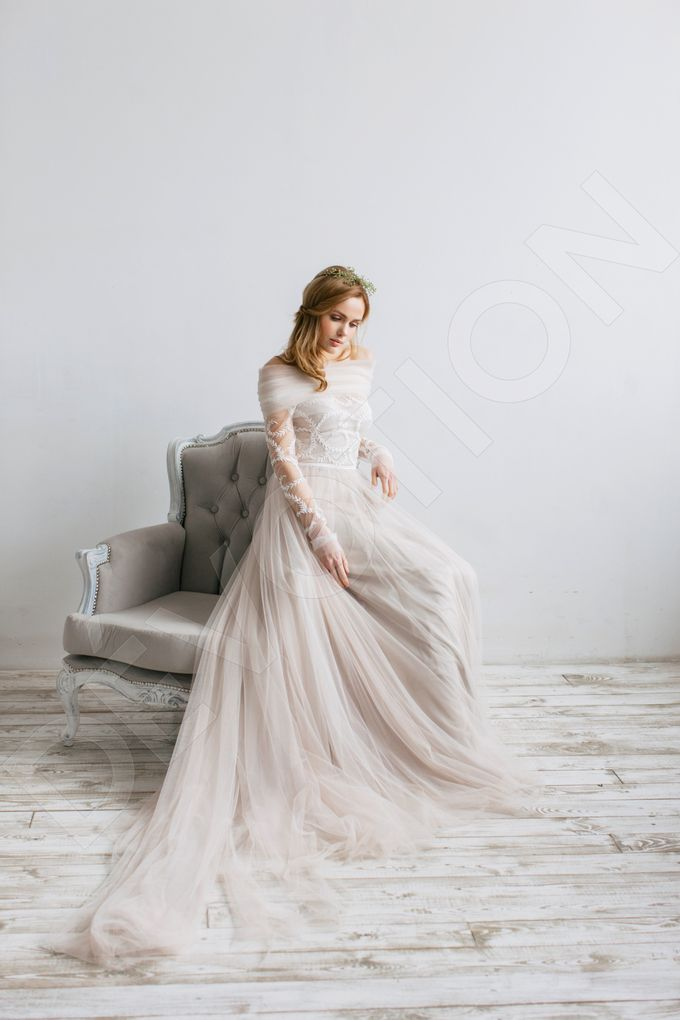 Elegant A-line silhouette Libera wedding dress by DevotionDresses - 009