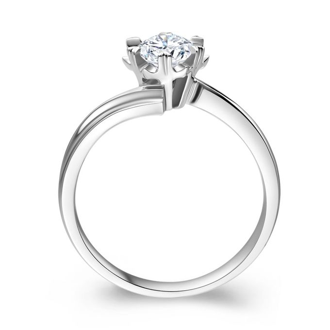 TIARIA Snowflake Diamond Engagement Ring Cincin Tunangan Berlian by TIARIA - 002