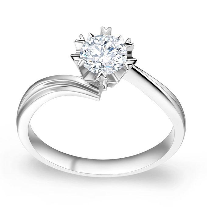 TIARIA Snowflake Diamond Engagement Ring Cincin Tunangan Berlian by TIARIA - 003