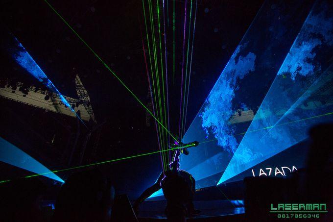 lasermanjakarta show for lazada super party on sctv l lasermanindonesia l laserman l laserman by mingworks by Laserman show - 026
