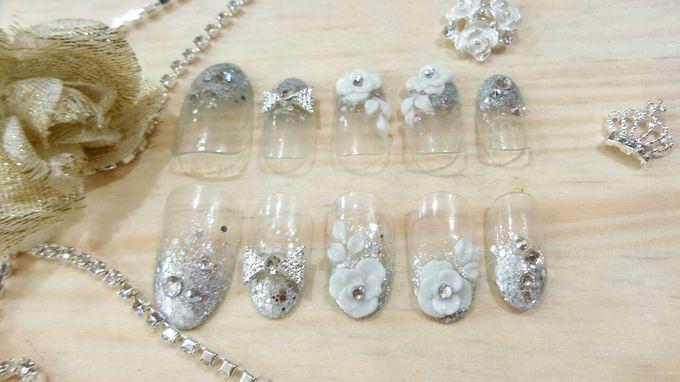 custom wedding nails by Veeana Nails - 011