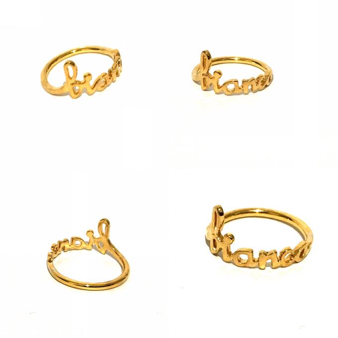 Custom name jewelry by Toko Emas Kesayangan - 001