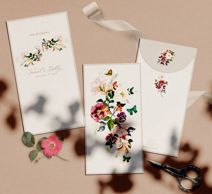 Plum Garden AngPao Envelope by Trouvaille Invitation - 002