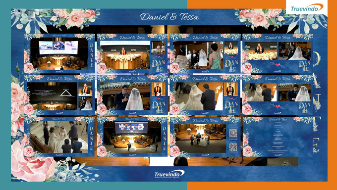 Daniel & Tessa Virtual Online Wedding Live Streaming Holy Matrimony by Truevindo - 001