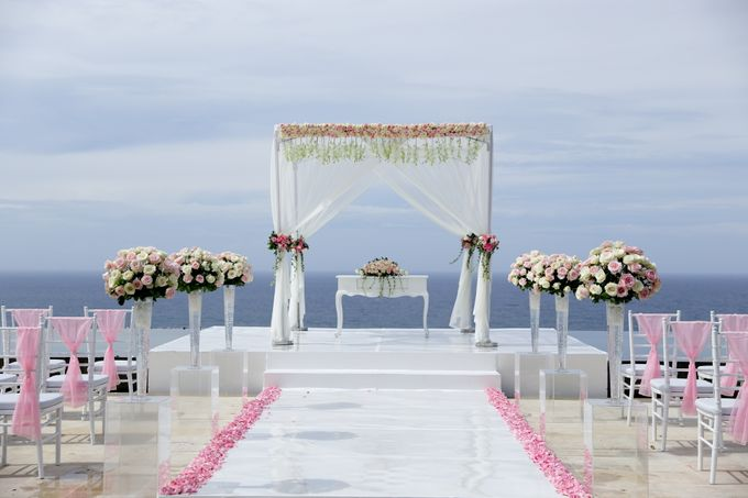 our chapel and water wedding decor by Jc Florist Bali - 016