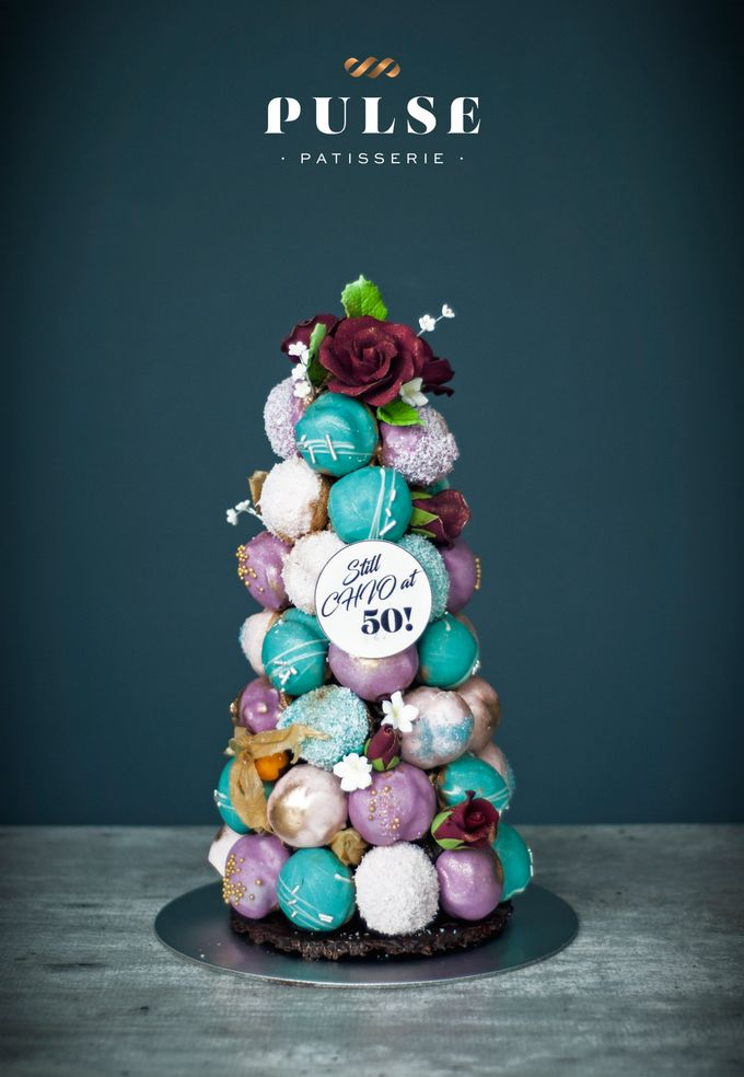 Wedding CROQUEMBOUCHE -Cream Puff Tower by Pulse Patisserie - 028