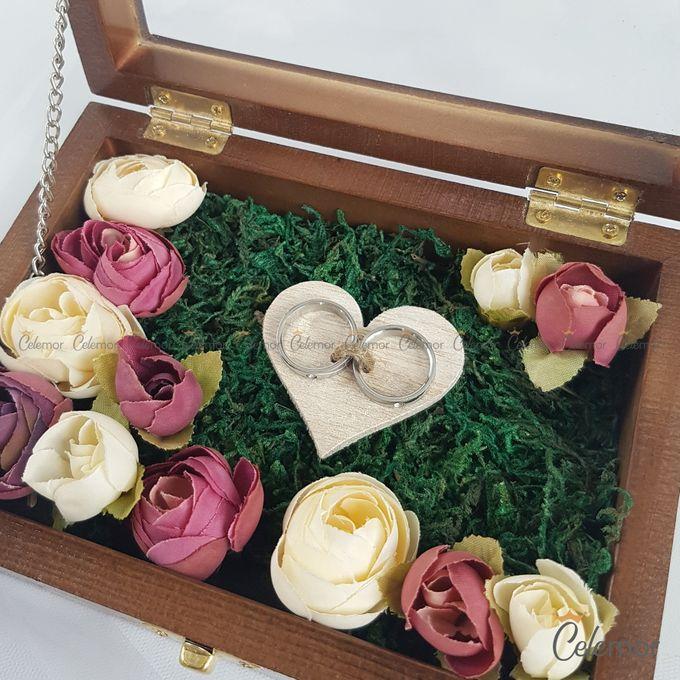 Top View Box - Politur Coklat | Wedding Ring Bearer Box Indonesia - Celemor by Celemor - 001