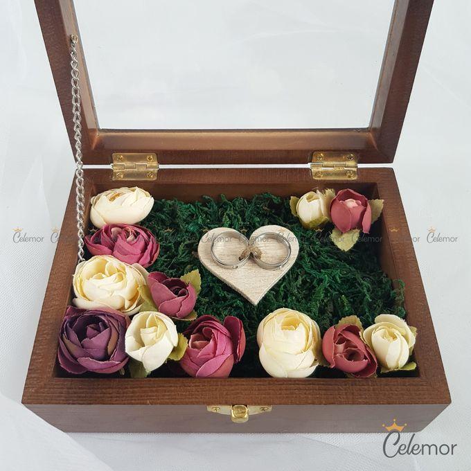 Top View Box - Politur Coklat | Wedding Ring Bearer Box Indonesia - Celemor by Celemor - 002