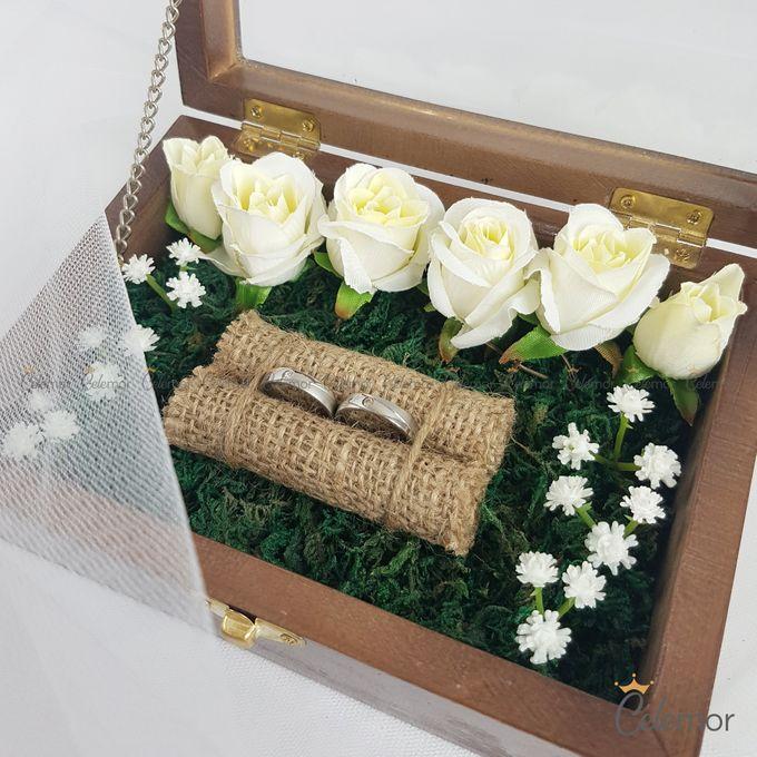 Top View Box - Politur Coklat | Wedding Ring Bearer Box Indonesia - Celemor by Celemor - 003