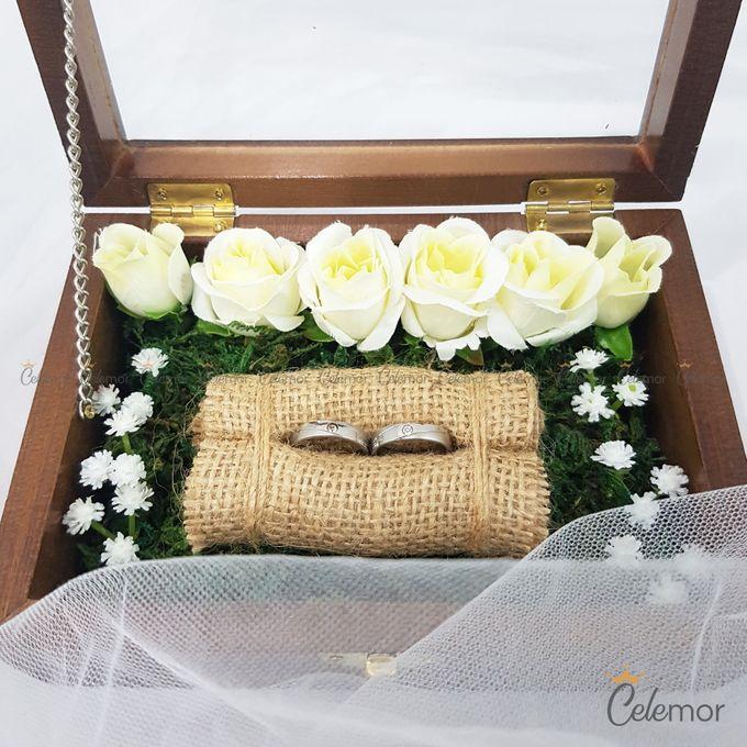 Top View Box - Politur Coklat | Wedding Ring Bearer Box Indonesia - Celemor by Celemor - 004
