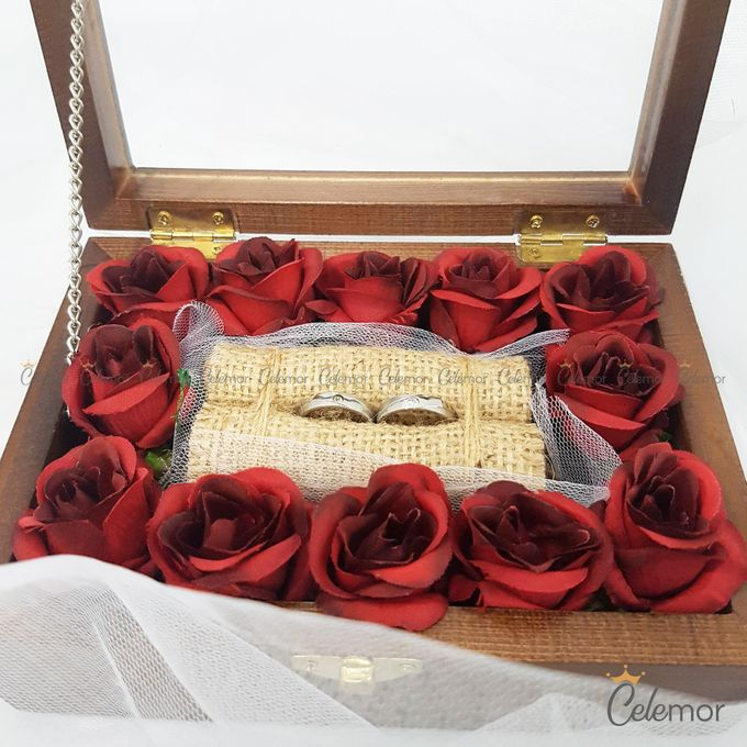 Top View Box - Politur Coklat | Wedding Ring Bearer Box Indonesia - Celemor by Celemor - 007