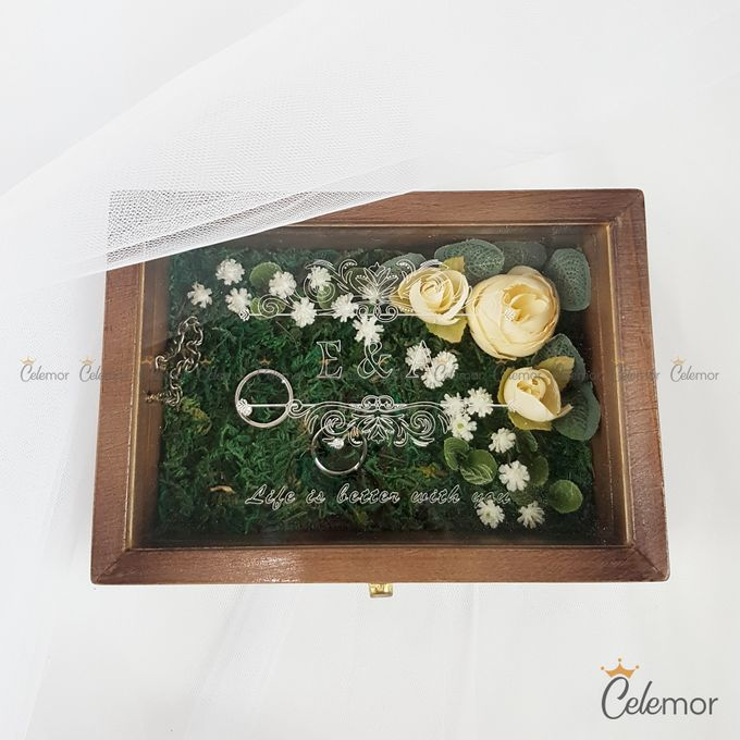 Top View Box - Politur Coklat | Wedding Ring Bearer Box Indonesia - Celemor by Celemor - 009