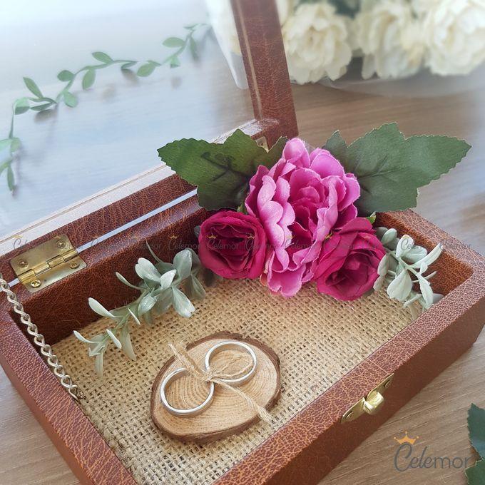 Top View Box - Dark Leather | Wedding Ring Bearer Box Indonesia - Celemor by Celemor - 001