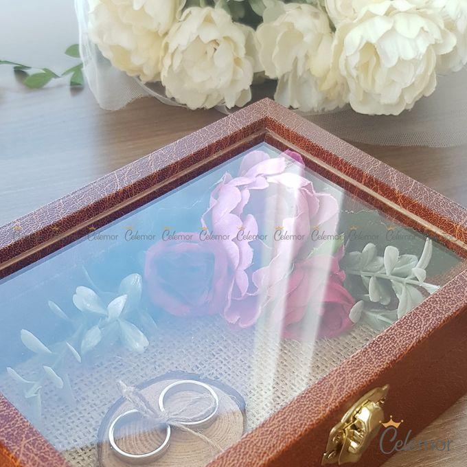 Top View Box - Dark Leather | Wedding Ring Bearer Box Indonesia - Celemor by Celemor - 003