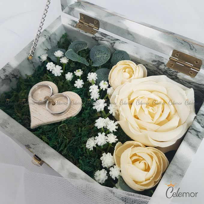 Top View Box - Marble | Wedding Ring Bearer Box Indonesia - Celemor by Celemor - 002