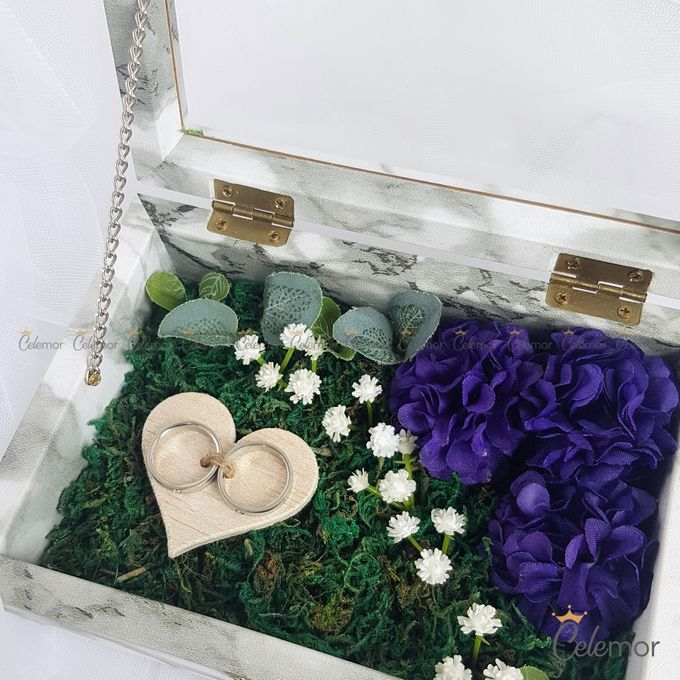 Top View Box - Marble | Wedding Ring Bearer Box Indonesia - Celemor by Celemor - 004