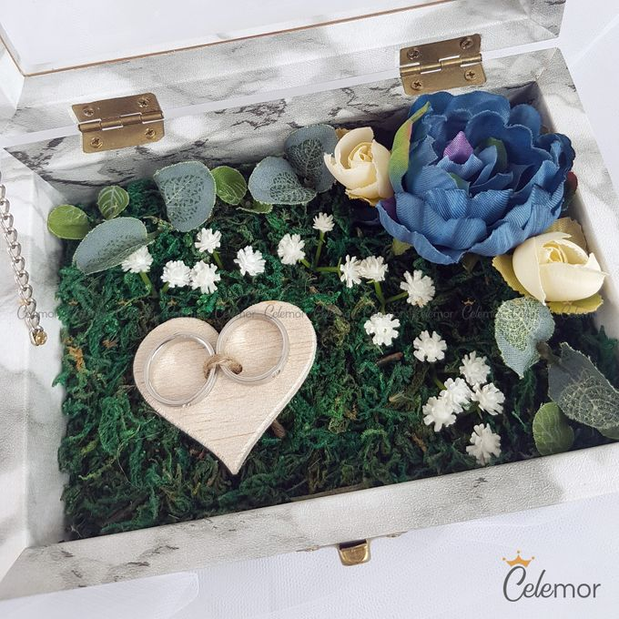 Top View Box - Marble | Wedding Ring Bearer Box Indonesia - Celemor by Celemor - 006