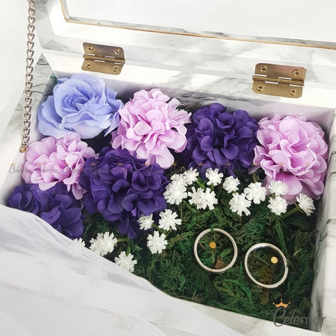 Top View Box - Marble | Wedding Ring Bearer Box Indonesia - Celemor by Celemor - 008
