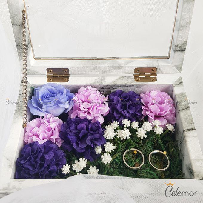 Top View Box - Marble | Wedding Ring Bearer Box Indonesia - Celemor by Celemor - 009