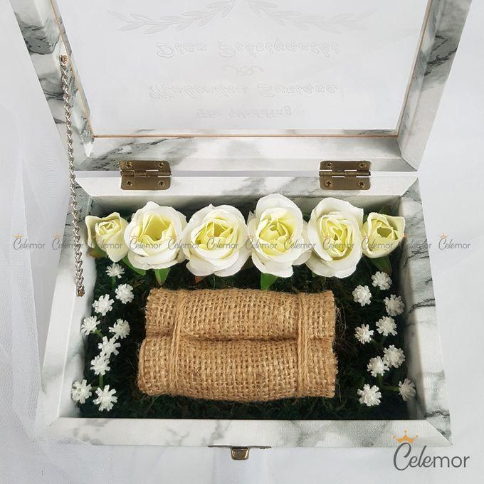 Top View Box - Marble | Wedding Ring Bearer Box Indonesia - Celemor by Celemor - 012