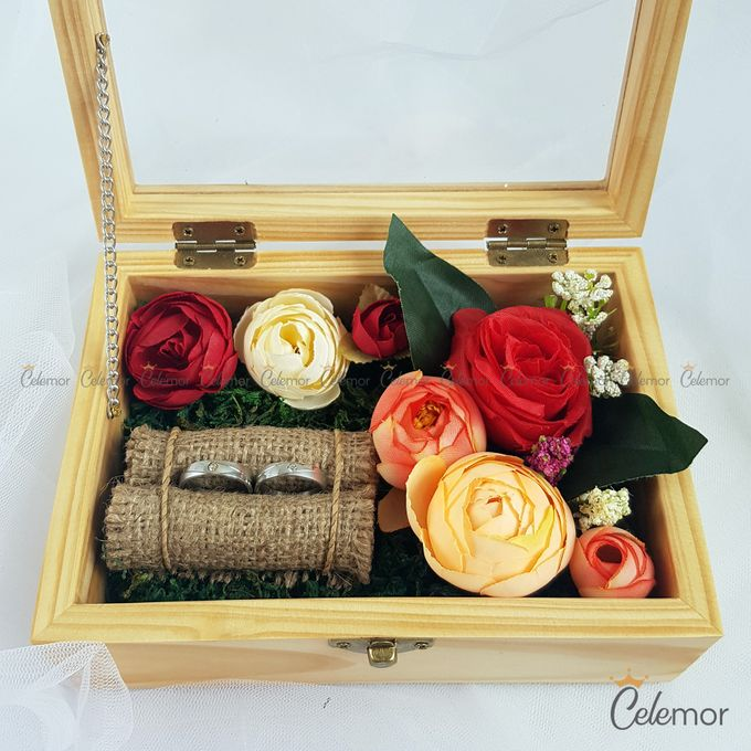 Top View Box - Natural | Wedding Ring Bearer Box Indonesia - Celemor by Celemor - 002