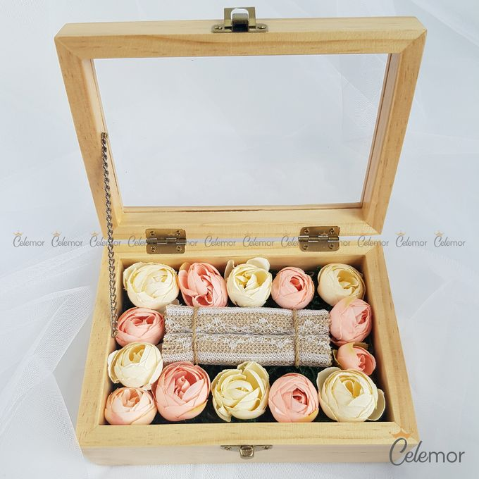 Top View Box - Natural | Wedding Ring Bearer Box Indonesia - Celemor by Celemor - 004