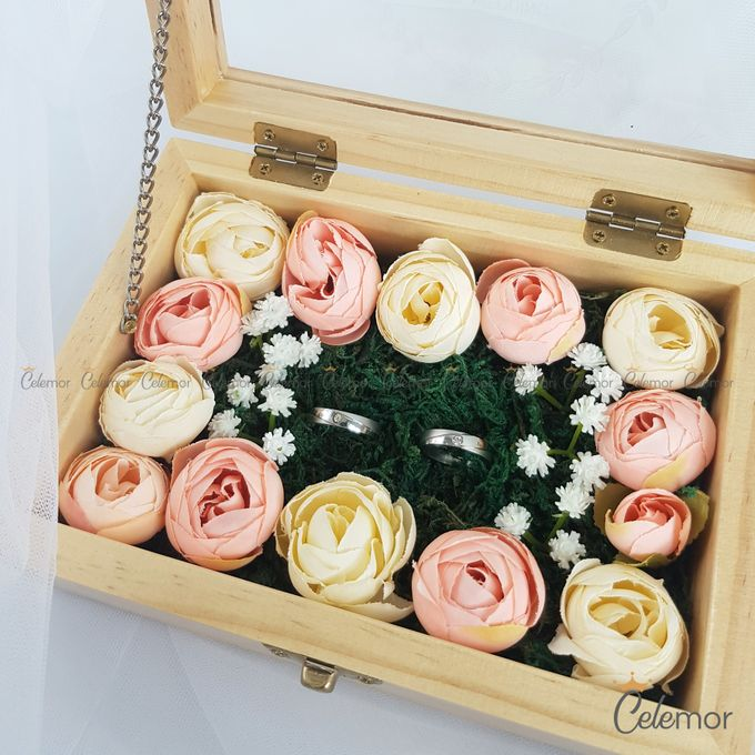 Top View Box - Natural | Wedding Ring Bearer Box Indonesia - Celemor by Celemor - 006