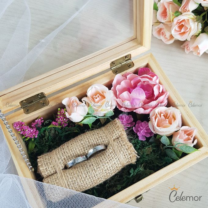 Top View Box - Natural | Wedding Ring Bearer Box Indonesia - Celemor by Celemor - 009