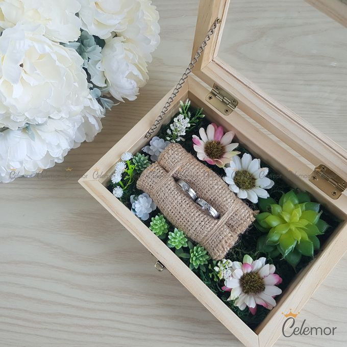 Top View Box - Natural | Wedding Ring Bearer Box Indonesia - Celemor by Celemor - 011
