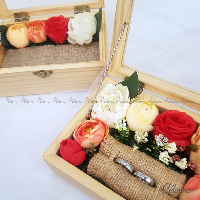 Top View Box - Natural | Wedding Ring Bearer Box Indonesia - Celemor by Celemor - 015