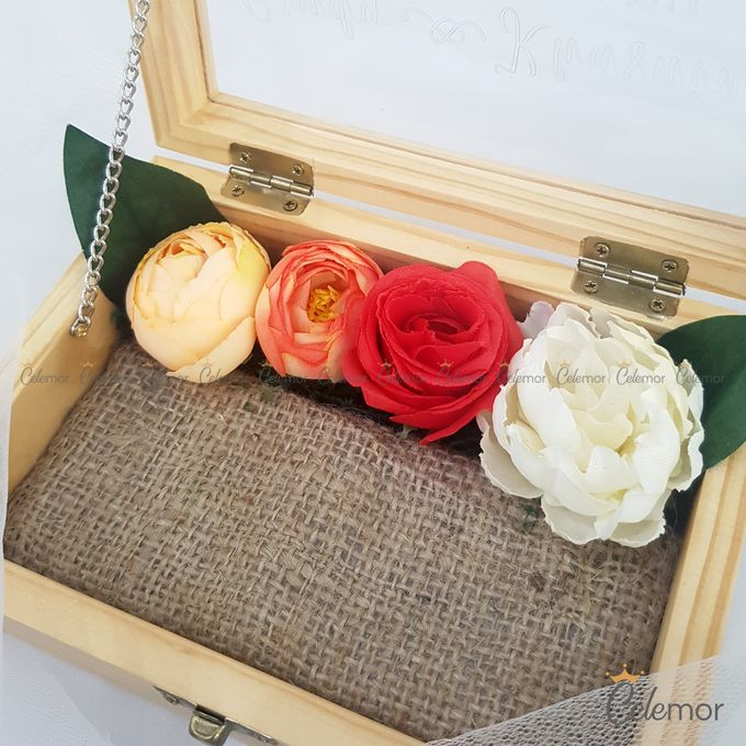 Top View Box - Natural | Wedding Ring Bearer Box Indonesia - Celemor by Celemor - 017